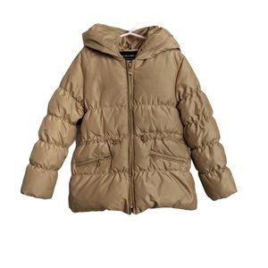 Zara feather down filled puffer jacket